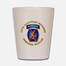 Emblem - 10th Mountain Division - SSI Shot Glass