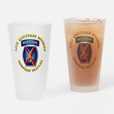 Emblem - 10th Mountain Division - SSI Drinking Gla
