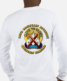 Emblem - 10th Mountain Division - SSI Long Sleeve