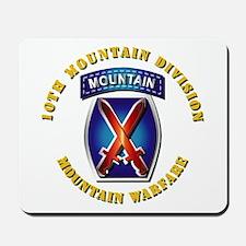 Emblem - 10th Mountain Division - SSI Mousepad