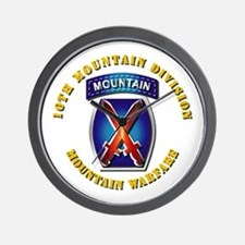 Emblem - 10th Mountain Division - SSI Wall Clock