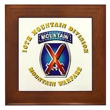 Emblem - 10th Mountain Division - SSI Framed Tile
