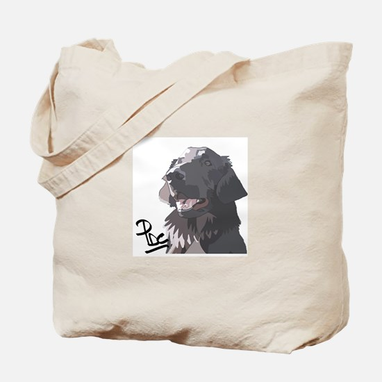 Flatcoated retriever PerryBGC Tote Bag