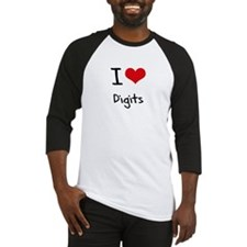 I Love Digits Baseball Jersey