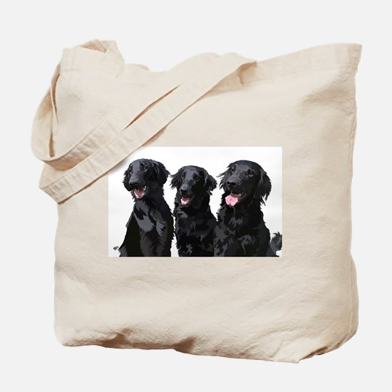 flatcoated retrievers Tote Bag
