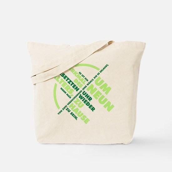 Merkmal des gesetzten Alters Tote Bag