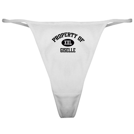 Property of Giselle Classic Thong