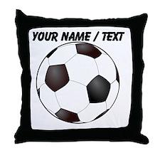 Custom Soccer Ball Throw Pillow