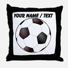 Custom Soccer Ball Throw Pillow