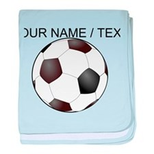 Custom Soccer Ball baby blanket