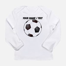 Custom Soccer Ball Long Sleeve T-Shirt