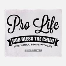 Pro Life Throw Blanket