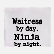 Waitress by day Throw Blanket