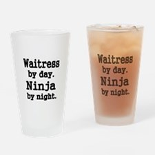 Waitress by day Drinking Glass