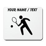 Custom Tennis Player Silhouette Mousepad