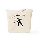 Custom Tennis Player Silhouette Tote Bag