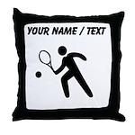 Custom Tennis Player Silhouette Throw Pillow