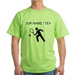 Custom Tennis Player Silhouette T-Shirt