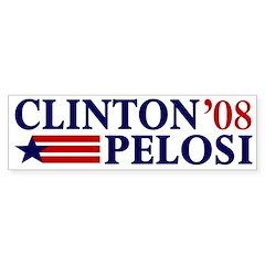 Clinton-Pelosi 2008 Bumper Bumper Sticker