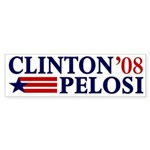 Clinton-Pelosi 2008 Bumper Sticker