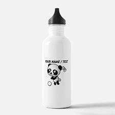 Custom Panda Golfer Water Bottle