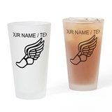 Cross country running Drinking Glass