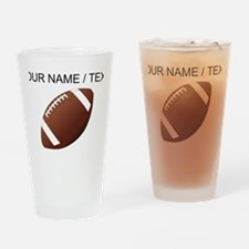 Custom Football Drinking Glass