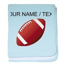 Custom Football baby blanket