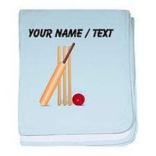 Custom Cricket Wicket baby blanket
