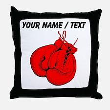 Custom Boxing Gloves Throw Pillow