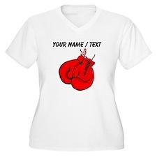 Custom Boxing Gloves Plus Size T-Shirt