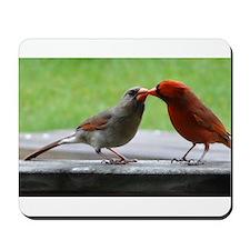 Kissing Cardinals Mousepad