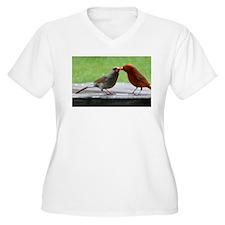 Kissing Cardinals Plus Size T-Shirt
