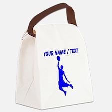 Custom Blue Basketball Dunk Silhouette Canvas Lunc