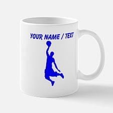 Custom Blue Basketball Dunk Silhouette Mug