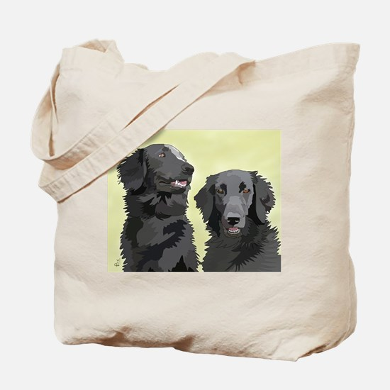 2 flatcoats Tote Bag