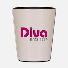 Diva Since 1994 Shot Glass