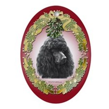 Poodle Christmas Oval Ornament