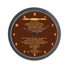 The Lords Prayer Wheat Wall Clock