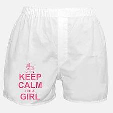 Keep Calm It's A Girl Boxer Shorts