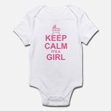 Keep Calm It's A Girl Infant Bodysuit