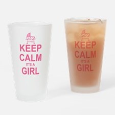 Keep Calm It's A Girl Drinking Glass