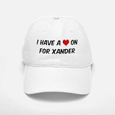 Heart on for Xander Baseball Baseball Cap