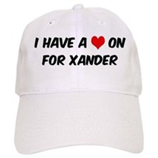 Heart on for Xander Baseball Cap
