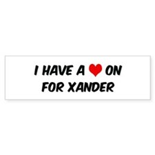 Heart on for Xander Bumper Bumper Sticker