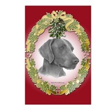 Weimeraner Christmas Postcards (Package of 8)