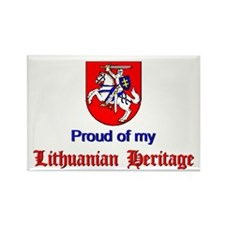 Official Lithuanian Crest Rectangle Magnet