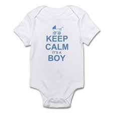 Keep Calm It's A Boy Infant Bodysuit