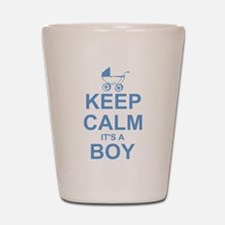 Keep Calm It's A Boy Shot Glass