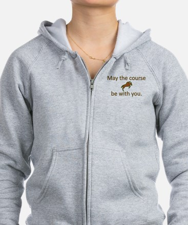 May the course be with you - EQUESTRIAN JUMPER Zip